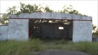 The disused ranch in Tamaulipas where the migrants' bodies were found (26 August 2010)