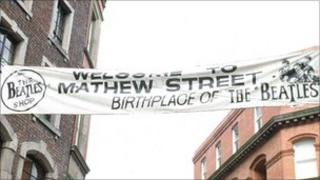 Mathews Street banner