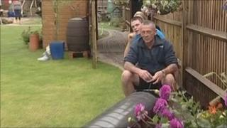 Graham and Lewis Bonner on the miniature railway