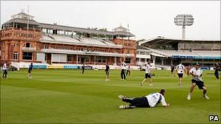 England practise at Lords
