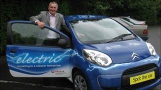 Councillor Glenn Dearlove and the electric car