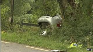 Kerry crash scene