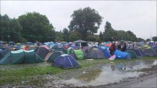 Tents at Reading Festival