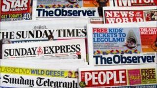 Sunday newspapers