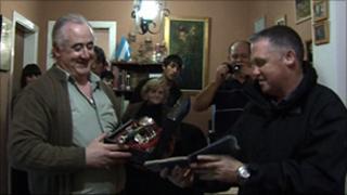 Tony Banks with Omar Rene Tabarez