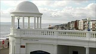 Colonnade building in Bexhill