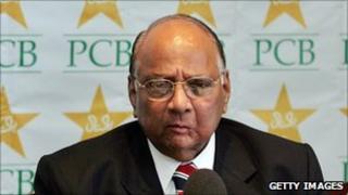International Cricket Council president Sharad Pawar