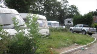 A traveller site in Kent