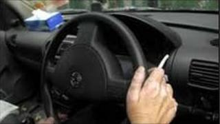 driver smoker in vehicle
