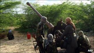 Al-Shabab fighters photographed on 23 August 2010