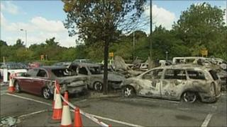 Stansted Airport car fire