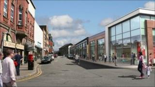 Image of how Taff Street would look