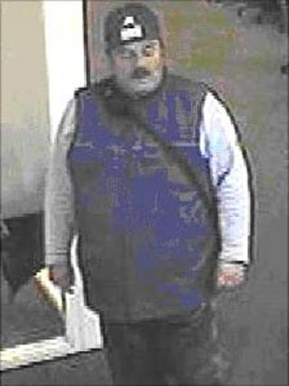 CCTV image of the man police want to speak to