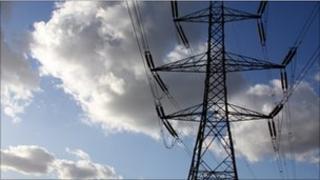Electricity pylon in East London