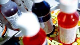 File picture of liquid medicines
