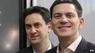 Ed Miliband [L] and David Miliband