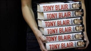Copies of Tony Blair's memoirs