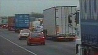 A14 traffic at a standstill