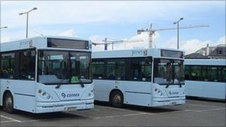 Connex buses in Jersey