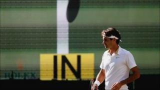Roger Federer and Hawk-Eye