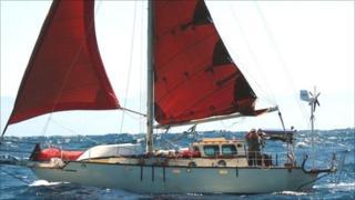 Billy Hughes on board his yacht Kymika