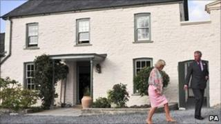 Prince Charles and the Duchess of Cornwall at their Welsh home