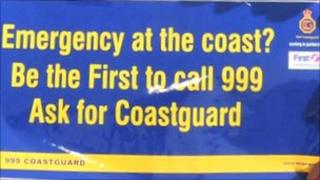 Coastguard poster appeal Picture taken by Geoff Moore