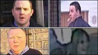 Police have released CCTV images of three men and one woman they want to trace