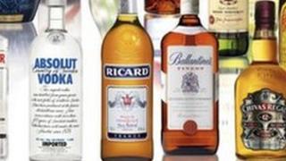 Pernod ricard drinks bottles