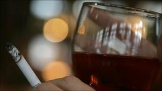 Cigarette and alcohol
