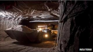 Potash mine in Saskatchewan, Canada