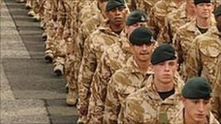 3 Rifles parade