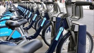 Barclays bicycle docking station