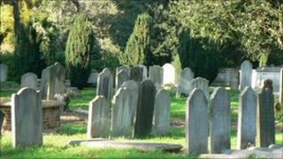 Church yard cemetery - generic