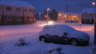 Heavy snowfall in Inverness