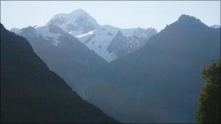 Fox Glacier and the Southern Alps, New Zealand