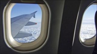 View through the window of an aeroplane