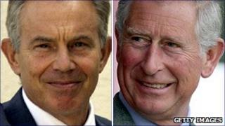 Tony Blair and Prince Charles