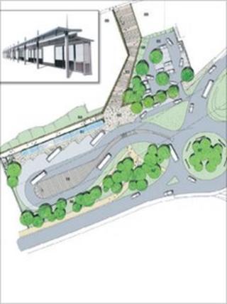 Illustration of new Bargoed bus station
