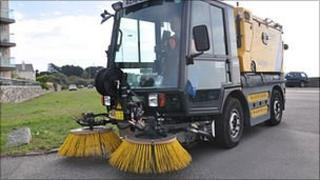 Guernsey States Works mini sweeper