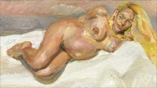 Eight Months Gone by Lucien Freud