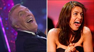 Bruce Forsyth and Claudia Winkleman