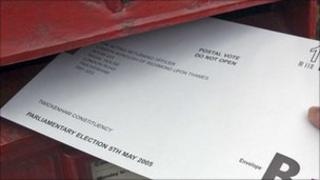 Postal Vote for the general election 2005