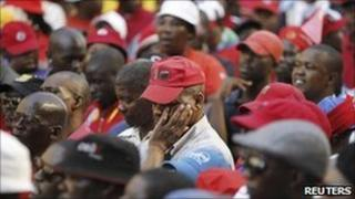 South African striking public sector workers (2 September)