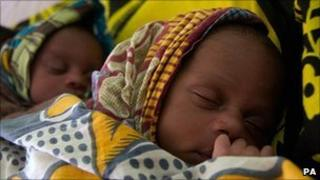 Underweight twins at Nyangao Hospital in Lindi, Tanzania