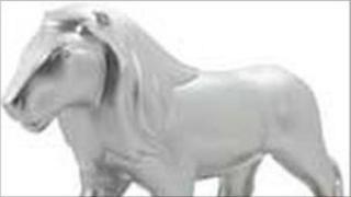 Pride of Northampton lion statue