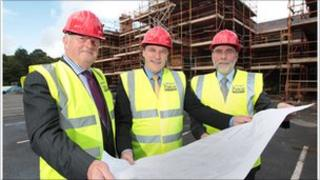 Dan Harvey and Tim Cooke NMNI with Culture Minister Nelson McCausland