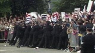 Protest outside Edinburgh's New College