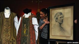 Robes belonging to Cardinal Newman