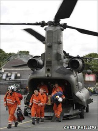 Chinook Mersey firefighters